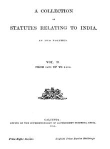 A Collection of Statutes Relating to India (Second Edition) Vol 2.djvu