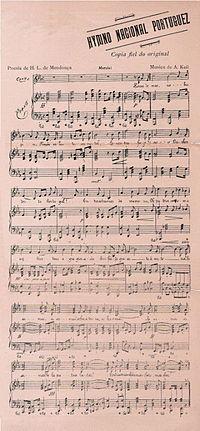 A Portuguesa sheet music.jpg