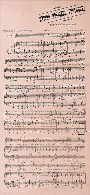 A Portuguesa - 1890 music sheet