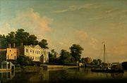 A View of Alexander Pope's Villa, Twickenham, on the Banks of the Thames by Samuel Scott, RA