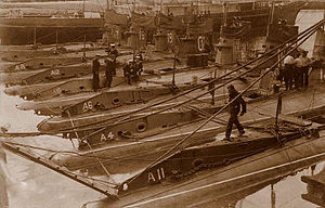 Godfrey Herbert - A class submarines photographed in 1903 and including HMS ''A4''