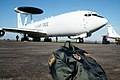 A flight bag and jacket wait to be loaded aboard an E-3 Sentry Airborne Warning and Control System (AWACS) aircraft. The aircraft is being prepared for a mission over Turkey in supp - DPLA - 20f64ee7000f96f0e936185fe2ccede3.jpeg
