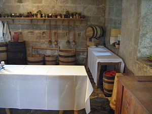 Portland Castle - Restored 16th-century kitchen