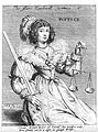 A woman with some weighing scales; representing justice. Etc Wellcome V0007638EL.jpg