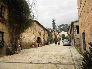 Farfa Abbey - The main street of the hamlet below the abbey