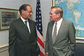 Abdul Sattar with Donald Rumsfeld, at the Pentagon, 2001.jpg