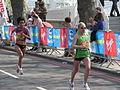 Abitova and Perez, London Marathon 2011.jpg