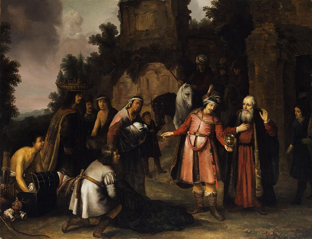 엘리사 선지자가 나아만의 선물을 거절하다 (아브라함 판 데이크, Abraham van Dijck, 1655년)