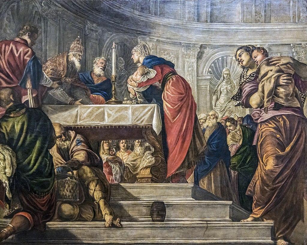 Accedemia - Presentazione di Gesù al tempio del Tintoretto