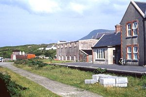 Achill Sound - Image: Achill railway station 1994