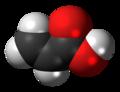 Acrylic acid molecule spacefill.png