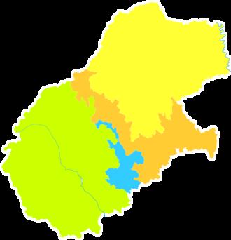 Tongchuan - Image: Administrative Division Tongchuan