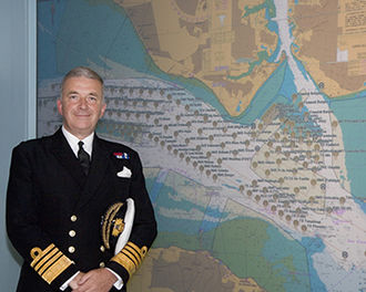 Alan West, Baron West of Spithead - Admiral Sir Alan West, then First Sea Lord, is pictured with the official chart of anchorages for the International Fleet Review