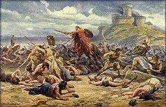 The Maidens' War - The Maidens' War, painted by Adolf Liebscher