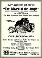 Advertisement for 1913 film The Wizard of the Jungle directed by Harold M. Shaw.jpg