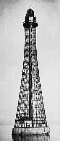 Гиперболоидный Аджигольский маяк конструкции В.Г.Шухова под Херсоном, 1911