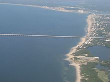 Aerial View Of The Virginia Beach Entrance To Bridge