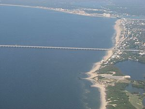 Chesapeake Bay Bridge–Tunnel - Aerial view of the Virginia Beach entrance to the bridge