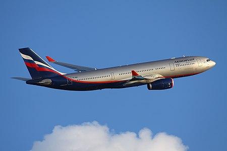 Aeroflot Airbus A330-200 climbing out of Sheremetyevo Airport