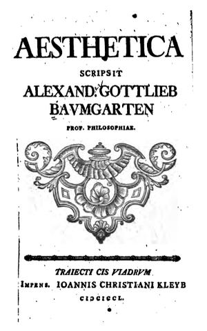 Alexander Gottlieb Baumgarten - Aesthetica (1750) by Alexander Gottlieb Baumgarten