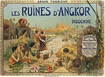 Franse Postkaart over Angkor Wat in 1911