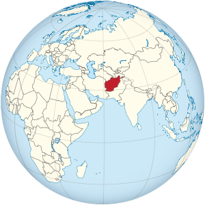 Afghanistan on the globe (Afro-Eurasia centered).svg
