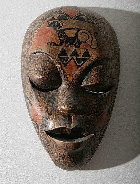 Archivo:African wooden mask.jpg