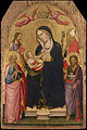 Agnolo Gaddi - Madonna and Child with St John the Evangelist, St John the Baptist, St James of Compostela and St Ni... - Google Art Project.jpg