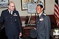 Air Marshall Panieng Karntarat of Thailand talks with GEN Lew Allen U.S. Air Force chief of staff, after his arrival in the United States for a visit.jpg
