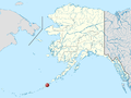 Akutan on Alaska location map.png