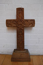 Alan Durst, Altar Cross in Kingswood School, Bath.jpg