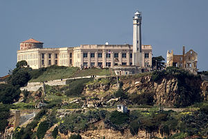 Parade Grounds - The Parade Grounds is the flat area at the bottom of the cliff which contains Alcatraz Island Light