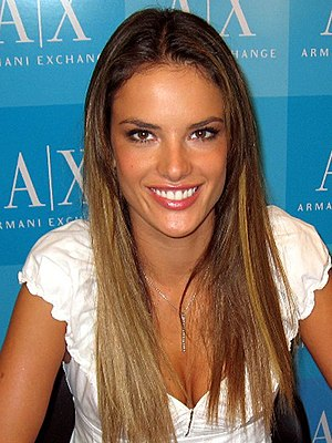 English: Brazilian fashion model Alessandra Am...