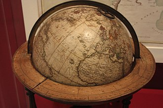 Alexander Dalrymple - Alexander Dalrymple's globe, Royal Scottish Museum