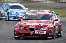 Alfa Romeo 156, driven by James Thompson, during the 2007 WTCC round at Curitiba.