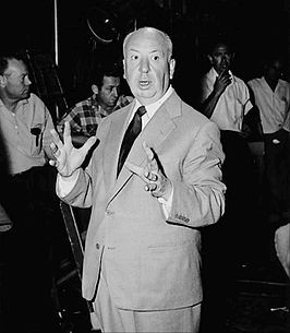 Alfred Hitchcock in 1955