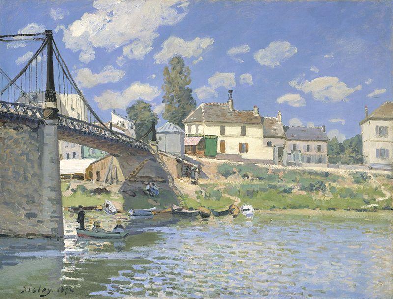 alfred sisley, bridge at villeneuve-la garenne