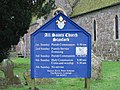 All Saint's church notice board - geograph.org.uk - 643535.jpg