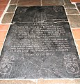 All Saints church in Dickleburgh - C17 ledger slab - geograph.org.uk - 1774257.jpg