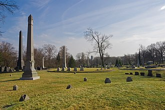 National Register of Historic Places listings in Pittsburgh, Pennsylvania - Image: Allegheny Cemetery 2008 spires