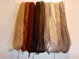 Alpaca fiber - Yarn spun from alpaca wool.