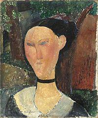 Dona amb cinta de vellut