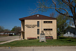American legion memorial building powers lake north dakota 2009.jpg