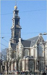Amsterdam westerkerk met keizerskroon februari 2003b.jpg
