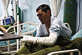 An Afghan National Army (ANA) soldier with the 203rd Corps recovers from surgery at the Paktia Regional Military Hospital at Forward Operating Base Thunder, Paktia province, Afghanistan, March 24, 2014 140324-A-RU942-202.jpg
