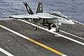 An F-A-18F lands aboard USS Dwight D. Eisenhower. (8572071958).jpg