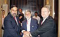 Anand Sharma along with the Minister of Trade and Industry, South Africa, Dr. Rob Davies and the Minister of External Relations, Brazil, Mr. Celso Amorim, during the IBSA meet, in New Delhi on September 04, 2009.jpg