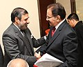 Anand Sharma with his Pakistani counterpart, Mr. Makhdoom Muhammad Amin Fahim, at the SAARC Ministerial meeting, on the sidelines of the 8th Ministerial Conference of WTO, at Geneva on December 14, 2011.jpg