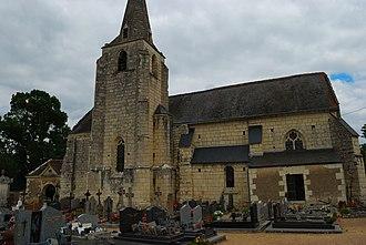 Anché, Indre-et-Loire - The church of Saint-Symphorien, in Anché