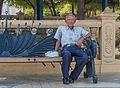 Ancien man waiting in the park.jpg
